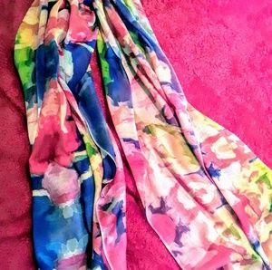 "Cashmere/silk 80"" x28 "" scarf"